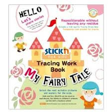 Carte educativa Stickn Tracing Work Book - My Fairy Tale