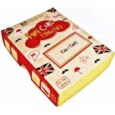 Carti de joc educative in limba engleza. Fun Card English. Can, Cant