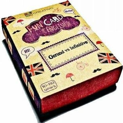 Carti de joc educative in limba engleza. Fun Card English. Gerund vs Infinitive