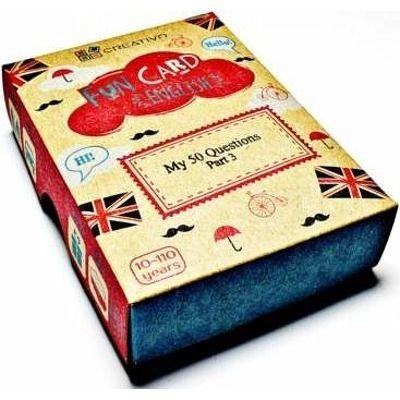 Carti de joc educative in limba engleza. Fun Card English. My 50 Questions Part Three