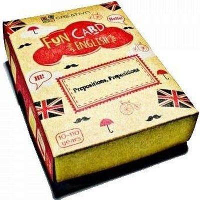Carti de joc educative in limba engleza. Fun Card English. Prepositions, Prepositions
