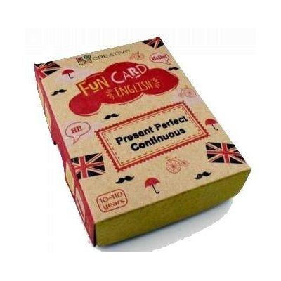 Carti de joc educative in limba engleza. Fun Card English. Present Perfect Continuous