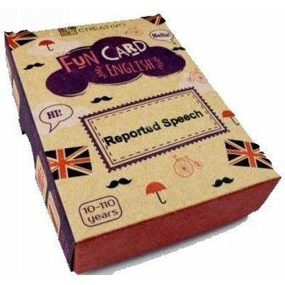 Carti de joc educative in limba engleza. Fun Card English. Reported Speech