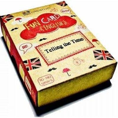 Carti de joc educative in limba engleza. Fun Card English. Telling the Time