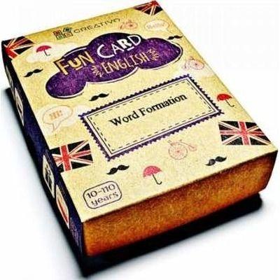 Carti de joc educative in limba engleza. Fun Card English. Word Formation