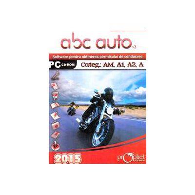 CD, Software pentru obtinerea permisului de conducere, ABC Auto v.3.0 - Categoriile AM, A1, A2, A - Actualizat 2015