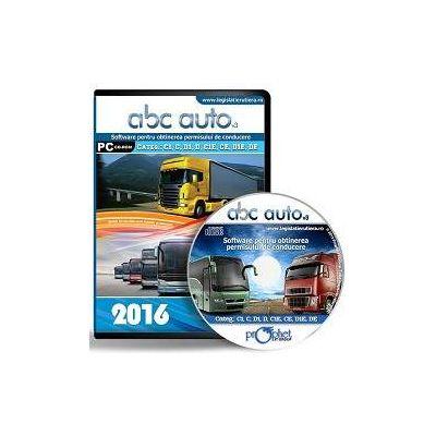 CD, Software pentru obtinerea permisului de conducere, ABC Auto v.3.0 - Pentru categoriile C1, C, D1, D,C1E, CE, D1E, DE - Editie actualizata 2016