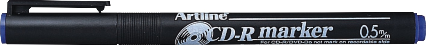 CD/DVD-marker Artline 883, corp plastic, varf rotund 0.5mm - albastru