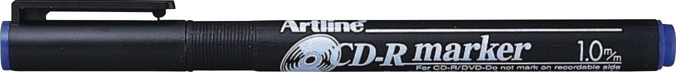 CD/DVD-marker Artline 884, corp plastic, varf rotund 1.0mm - albastru