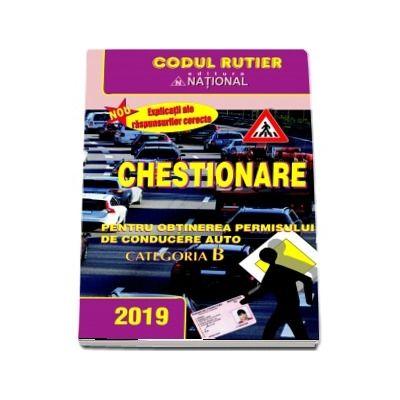 Chestionare pentru obtinerea permisului de conducere auto Categoria B (2019)
