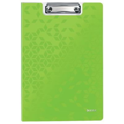 Clipboard LEITZ WOW, dublu, polyfoam, A4, 100 coli, verde