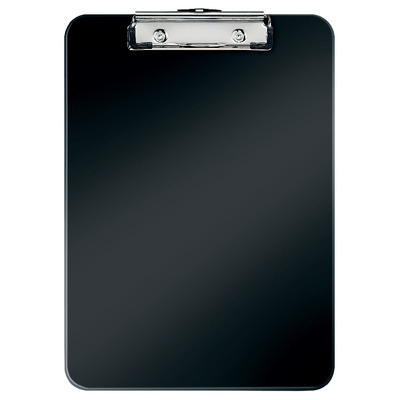 Clipboard LEITZ WOW, simplu, PS, A4, 100 coli, negru