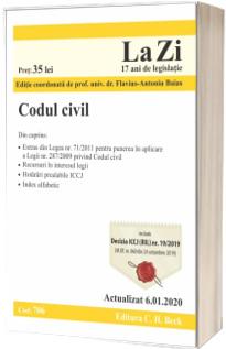 Codul civil. Cod 706. Actualizat la 6.01.2020