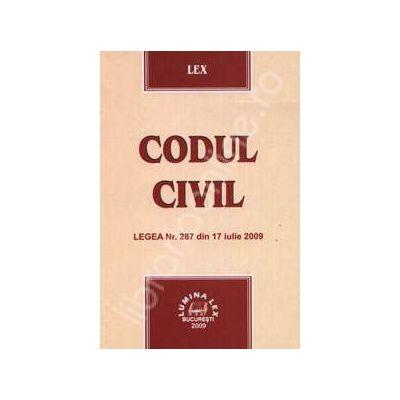 Codul Civil. Legea Nr. 287 din 17 iulie 2009