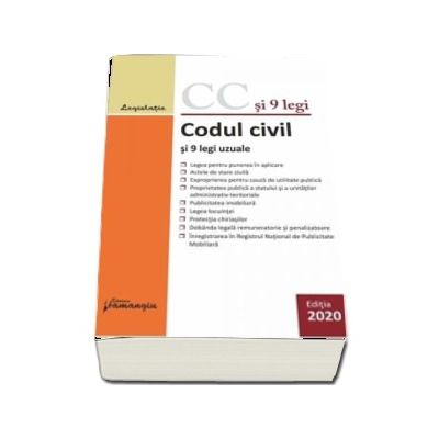 Codul civil si 9 legi uzuale - actualizat 14 ianuarie 2020
