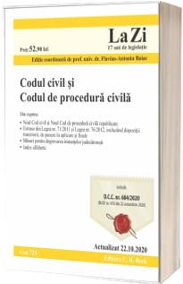 Codul civil si Codul de procedura civila. Cod 725. Actualizat la 22.10.2020