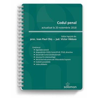 Codul penal. Actualizat la 20 noiembrie 2018