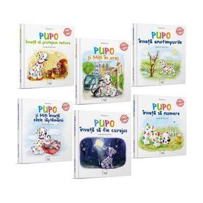 Colectia Pupo invata, 6 carti educative pentru copii
