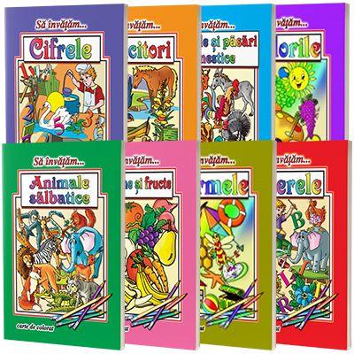 Colectia sa invatam...8 carti de colorat, format A4