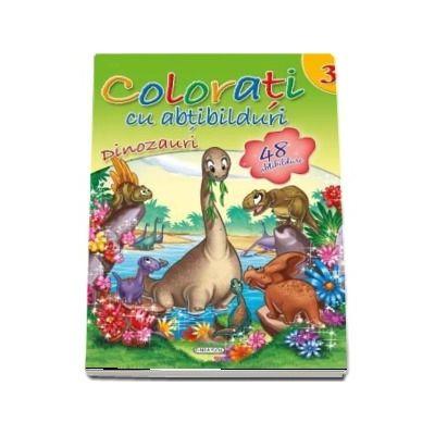 Colorati cu abtibilduri. Dinozaur, volumul III