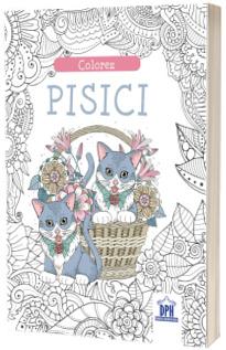 Colorez pisici - carte de colorat