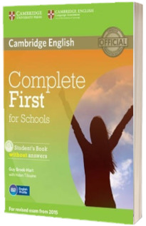 Complete First for Schools Students Book without Answers with CD-ROM