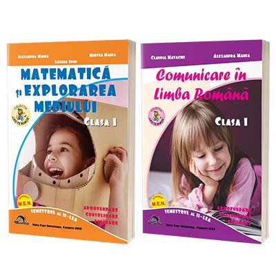 Comunicare in Limba Romana si Matematica si explorarea mediului. Clasa I, semestrul II.Set 2 carti.