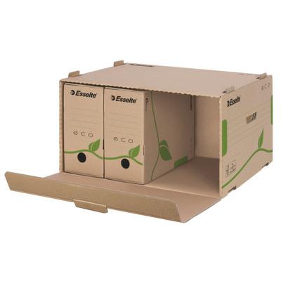 Container de arhivare Esselte Eco, cu deschidere frontala, pentru cutii 80/100