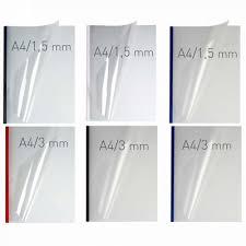Coperti plastic PVC cu sina metalica 13mm, OPUS Easy Open - transparent mat/albastru
