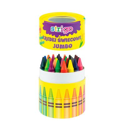 Creioane cerate Jumbo, 36 buc, 18 culori