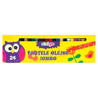 Creioane cerate Strigo JUMBO 24 culori