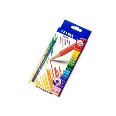 Creioane colorate Osiris, set 12 bucati, Lyra