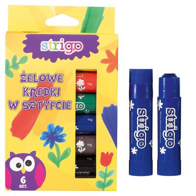 Creioane Strigo Gel Stick 6 culori 10g