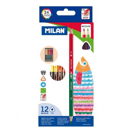 Creion color 12 bicolor MILAN