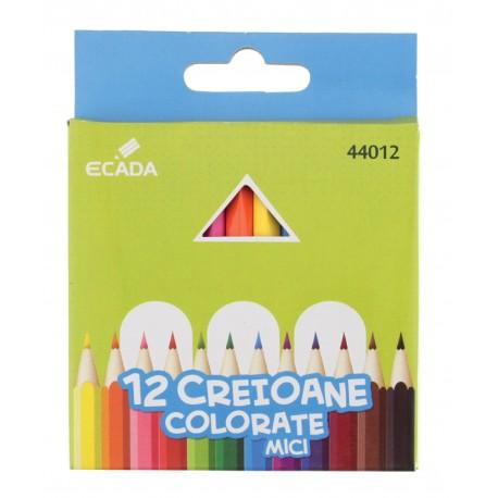 Creion color 12 culori mici ECADA