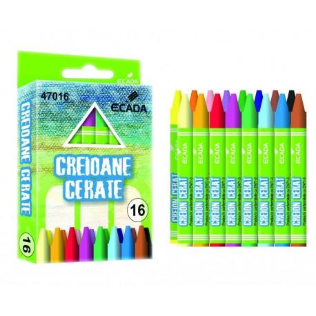 Creion color 16 culori cerat Ecada