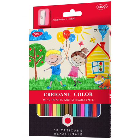 Creion color 18 culori DACO CC318
