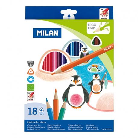Creion Color 18 triunghiular MILAN
