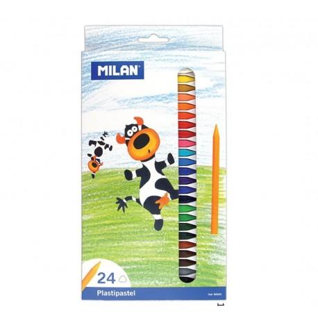 Creion color 24 culori cerat MILAN