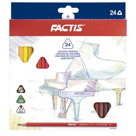 Creion color 24 triunghiular Factis