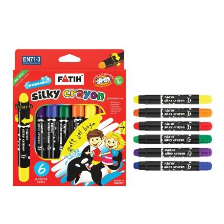 Creion color 6 culori cu gel Fatih