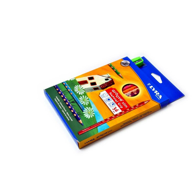 Creion color, cu ascutitoare, 36 buc/cutie, Lyra