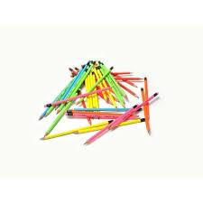 Creion cu guma, HB2, corp neon, Lyra