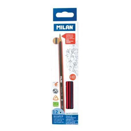 Creion grafit triunghiular HB Milan