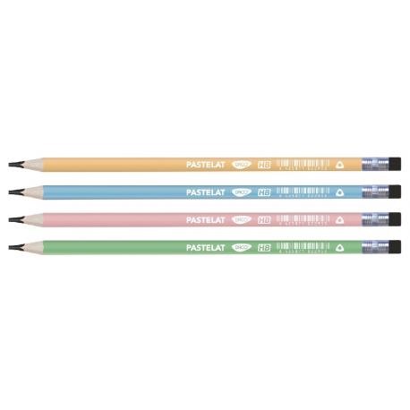 Creion negru cu radiera design pastelat DACO CG103