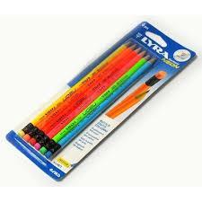 Creion Neon 2HB, set 6 bucati, Lyra