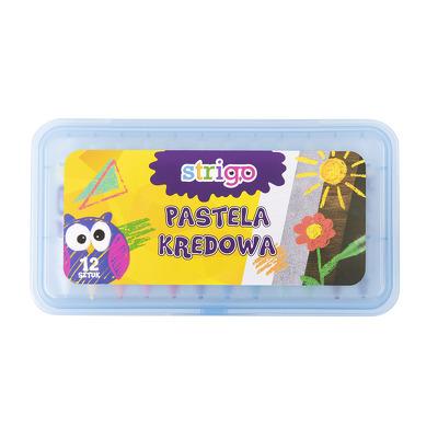 Creta Strigo PASTEL 12 culori in cutie
