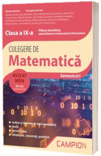 Culegere de matematica, clasa a IX-a - Filiera teoretica, specializarea matematica-informatica - Semestrul I