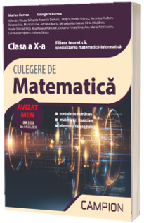 Culegere de matematica, clasa a X-a - Filiera teoretica, specializarea matematica-informatica