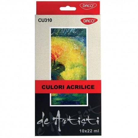 Culori acril 10 culori 22 ml Artist DACO